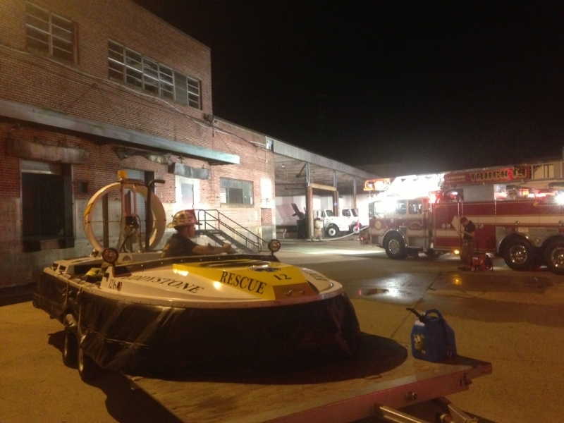 Working Fire in Warehouse